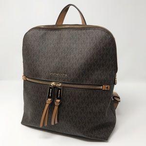Michael Kors Signature Logo Backpack / Purse